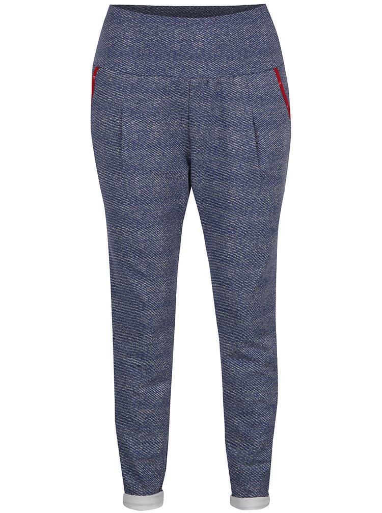 Šedomodré žíhané kalhoty s vysokým pasem Blutsgeschwister