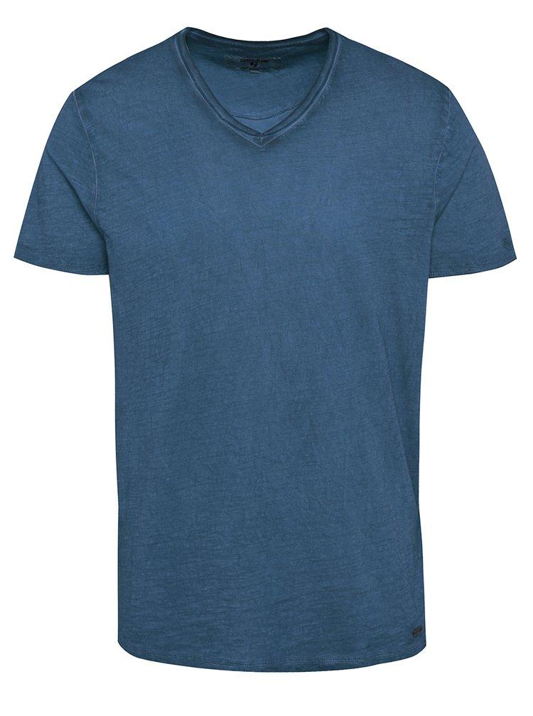 Tricou albastru pentru bărbați Garcia Jeans Marco