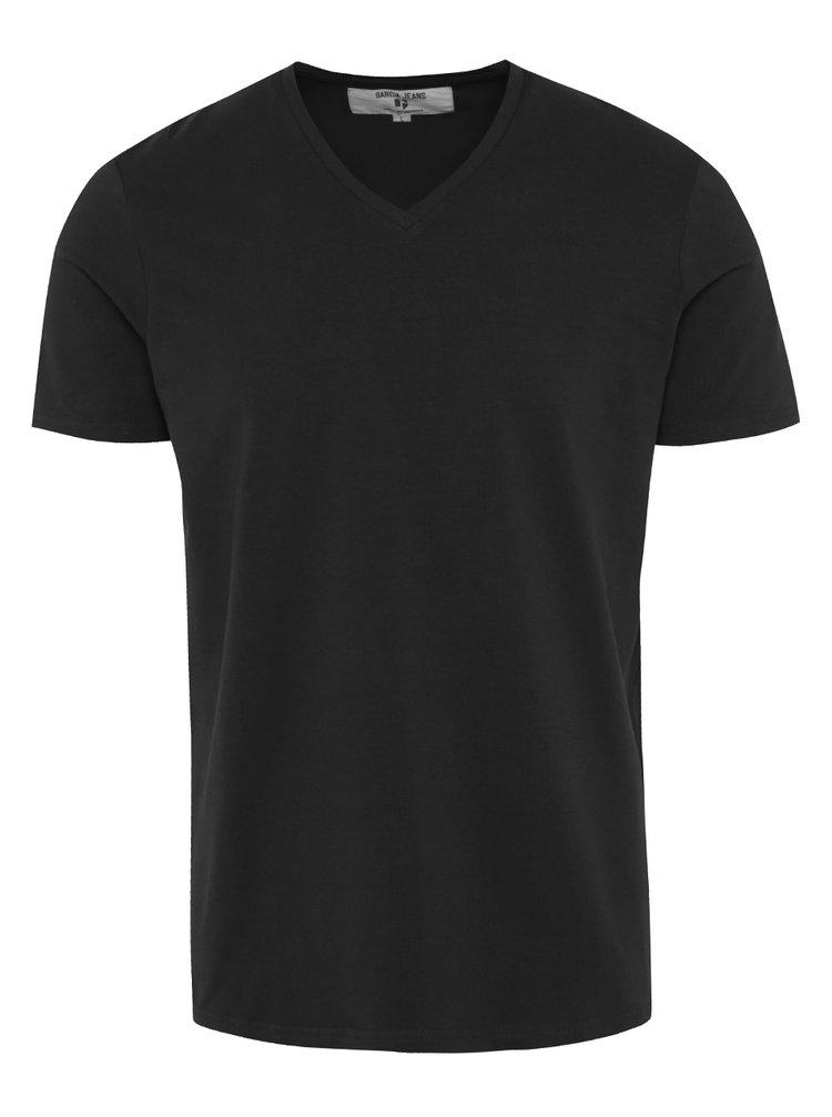 Tricou basic negru pentru barbati Garcia Jeans Remco