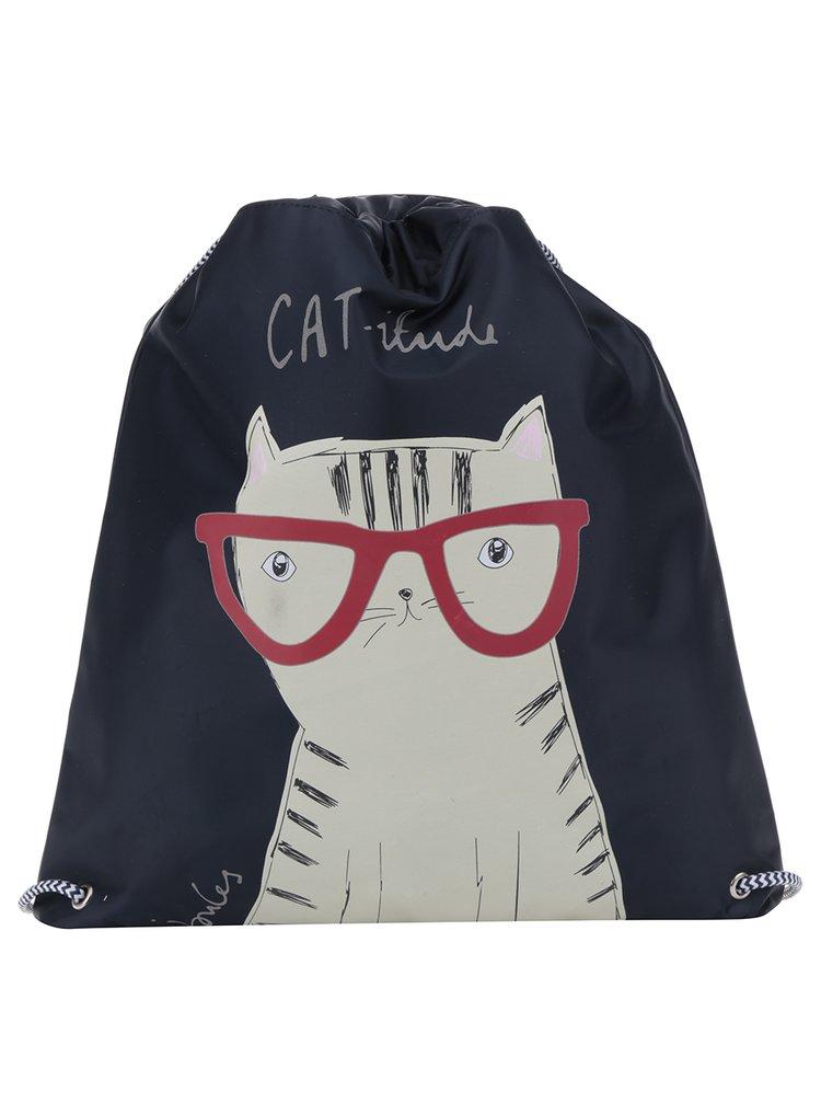 Rucsac bleumarin cu print pisica pentru copii Tom Joule