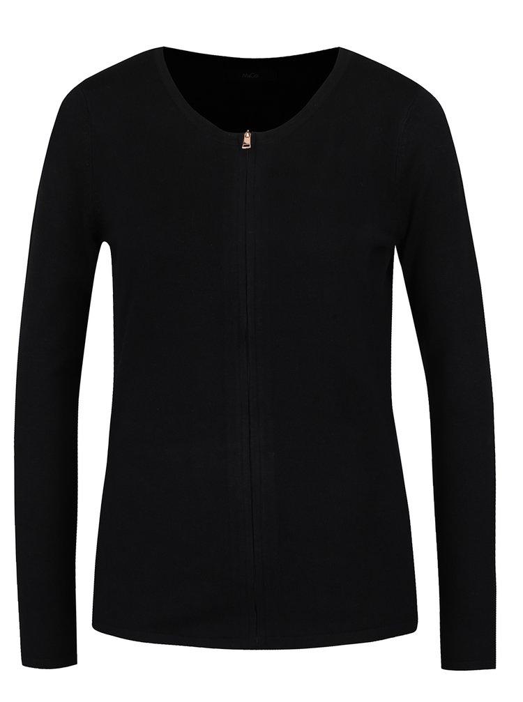 Cardigan negru cu fermoar ascuns - M&Co