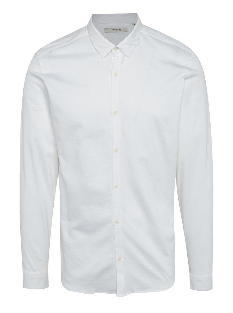 Camasa alba slim fit Jack & Jones Premium Knit