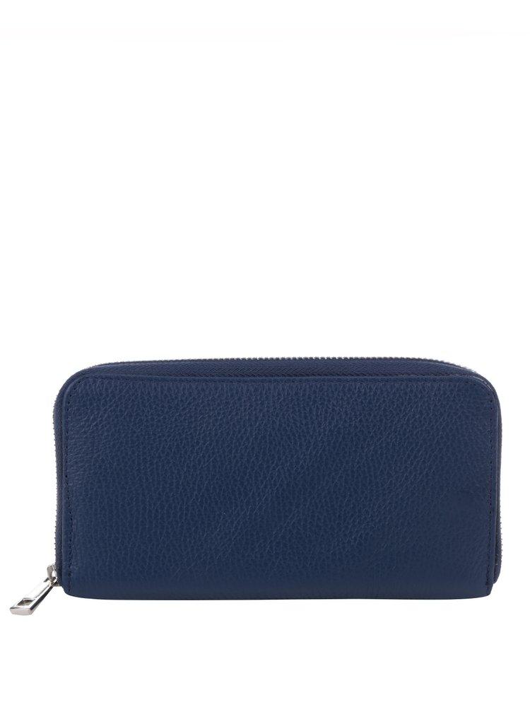 Tmavě modrá kožená velká peněženka ZOOT