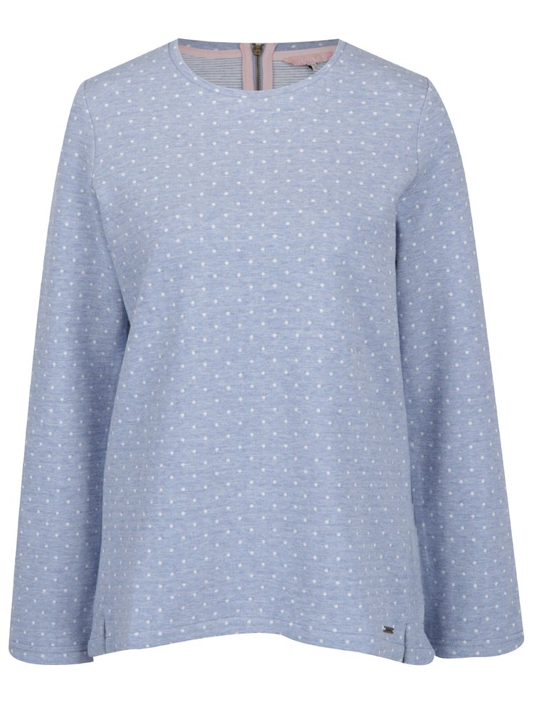 Bluză albastru melanj cu buline Tom Joule