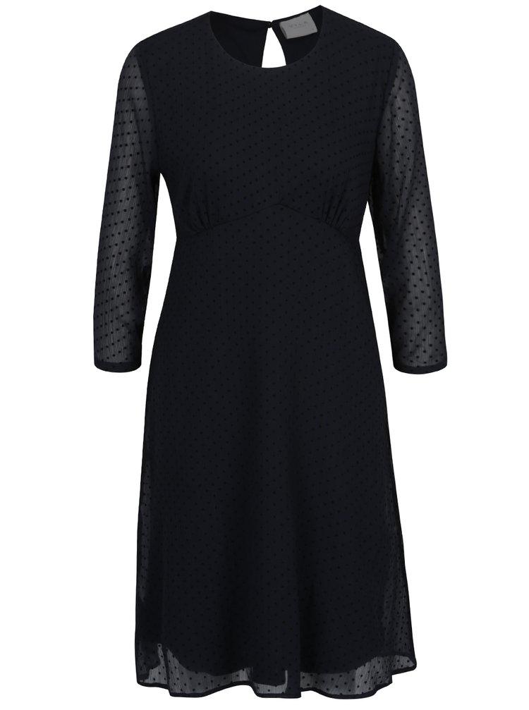 Rochie neagră cu model discret - VILA Amo