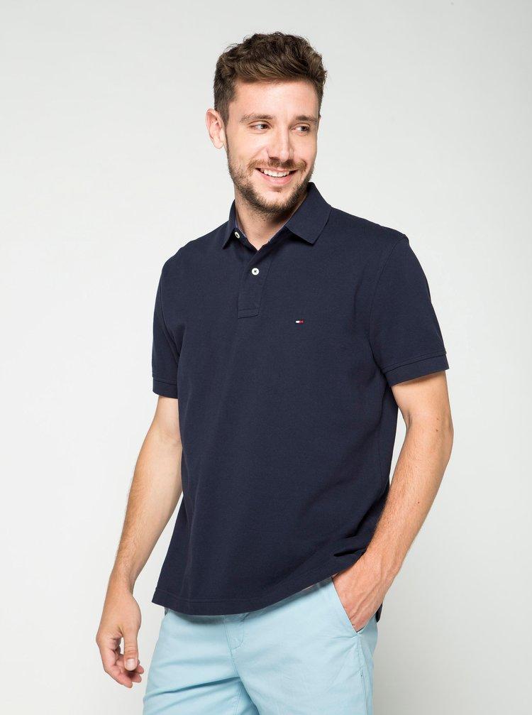 Tmavě modré pánské polo tričko Tommy Hilfiger