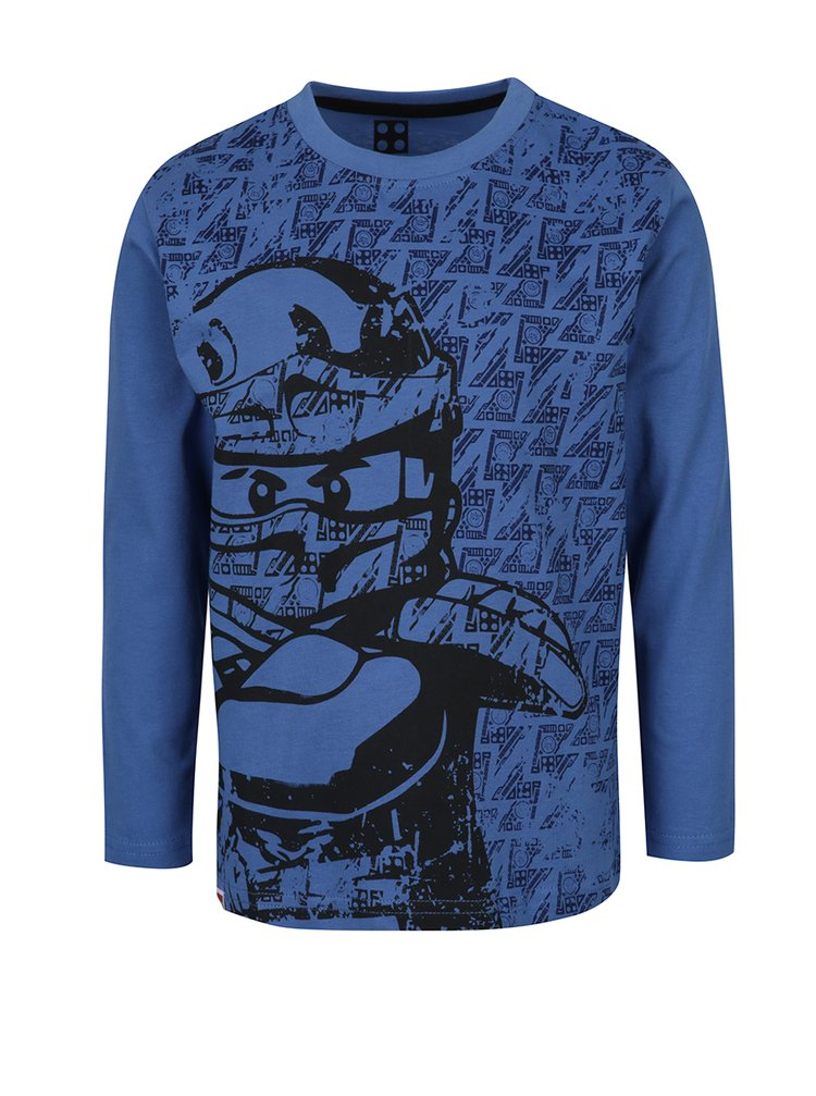 Bluză albastră cu print Lego Wear pentru băieți