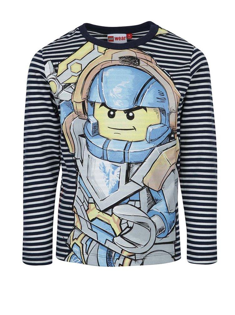 Modro-biele chlapčenské tričko s dlhým rukávom Lego Wear Teo