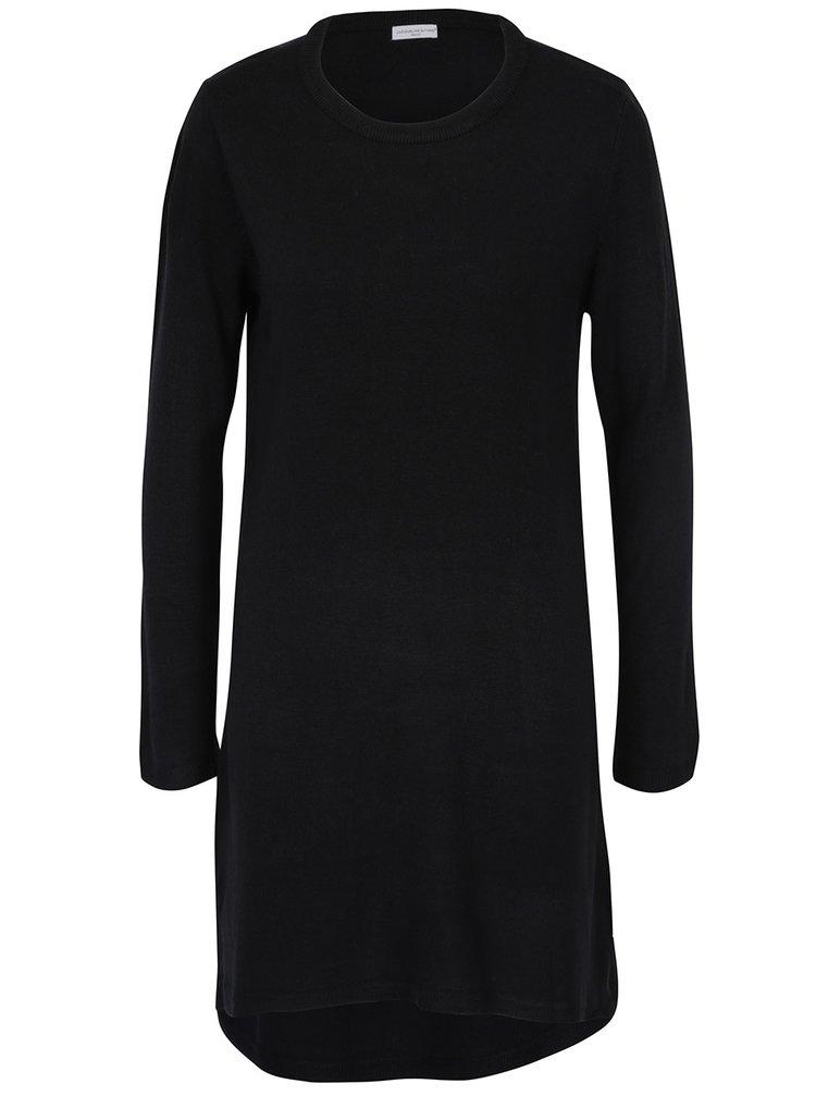 Černé svetrové šaty Jacqueline de Yong Nona