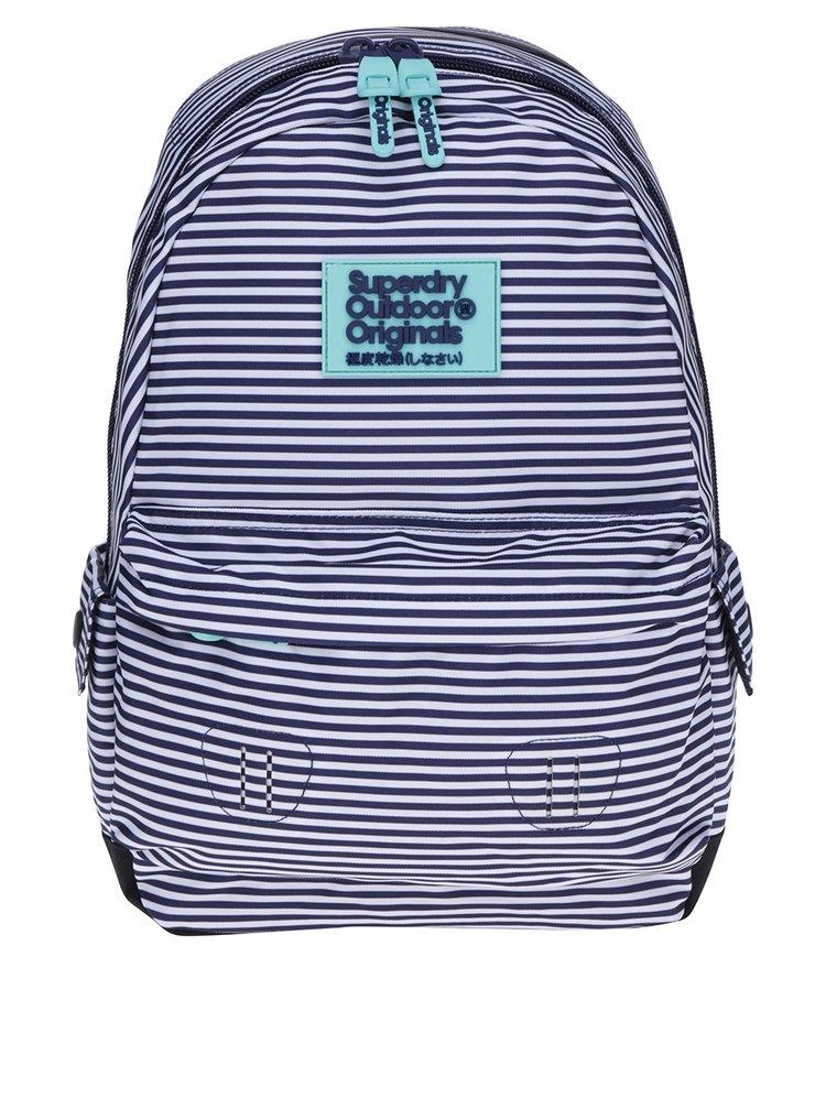 Tmavě modrý pruhovaný batoh Superdry Montana 17 l