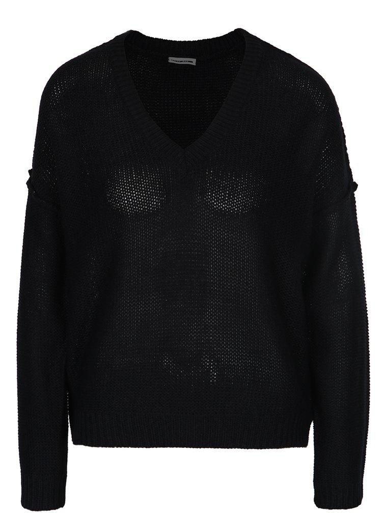 Pulover negru ușor transparent Noisy May Verona