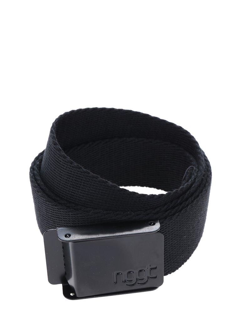 Černý pánský pásek s kovovou přezkou NUGGET Faux
