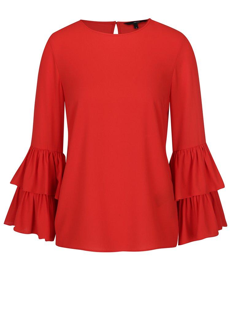 Bluză roșie cu mâneci clopot VERO MODA Dellie