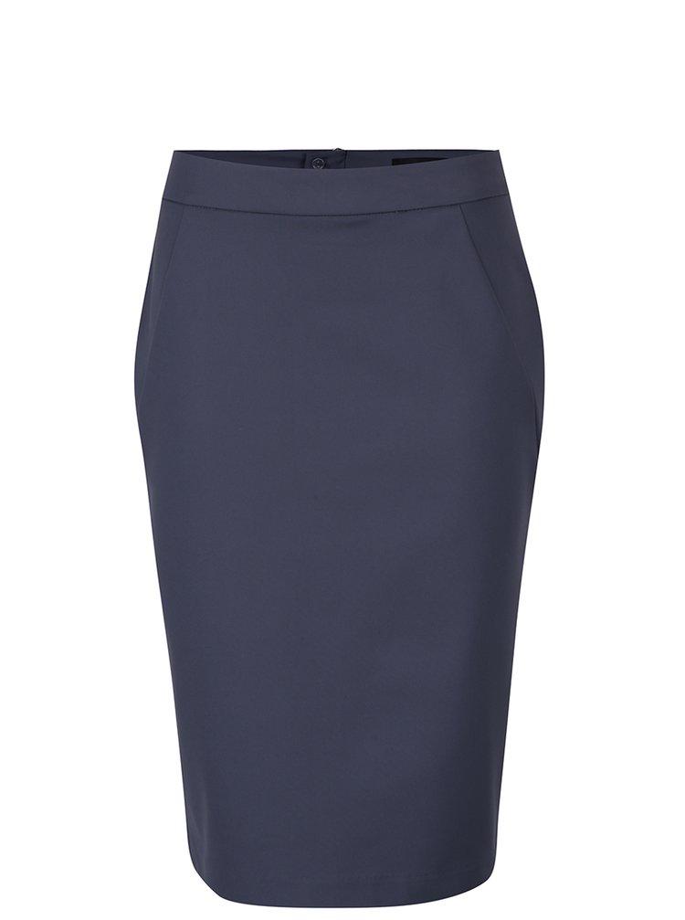 Modrošedá pouzdrová sukně VERO MODA Victoria