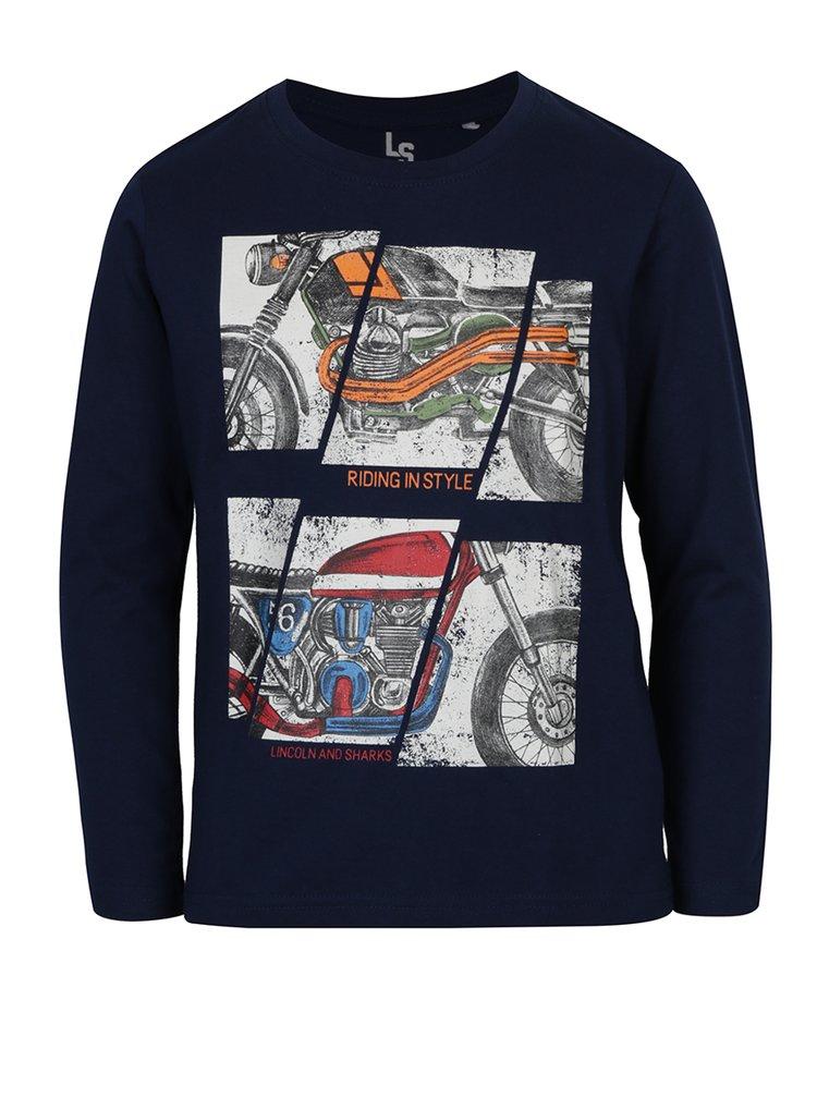 Bluză bleumarin cu imprimeu pentru băieți  - 5.10.15.