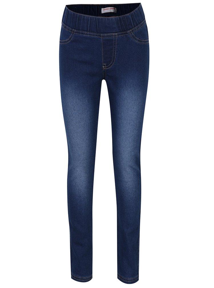 Tmavě modré holčičí džíny s pružným pasem 5.10.15.