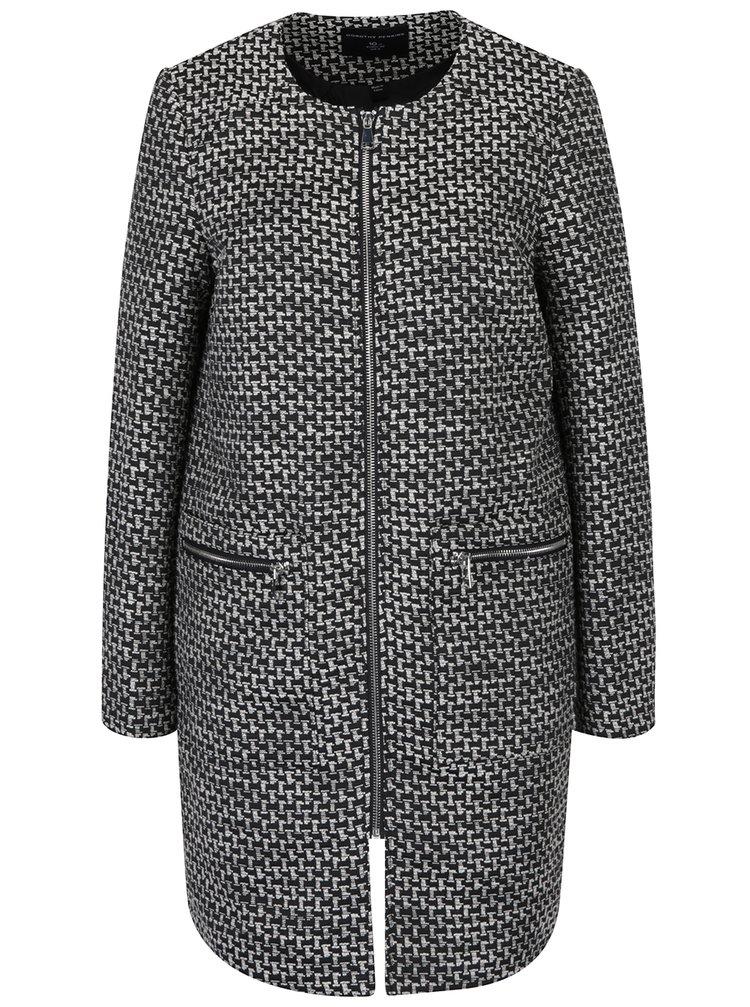 Černo-krémový vzorovaný lehký kabát Dorothy Perkins