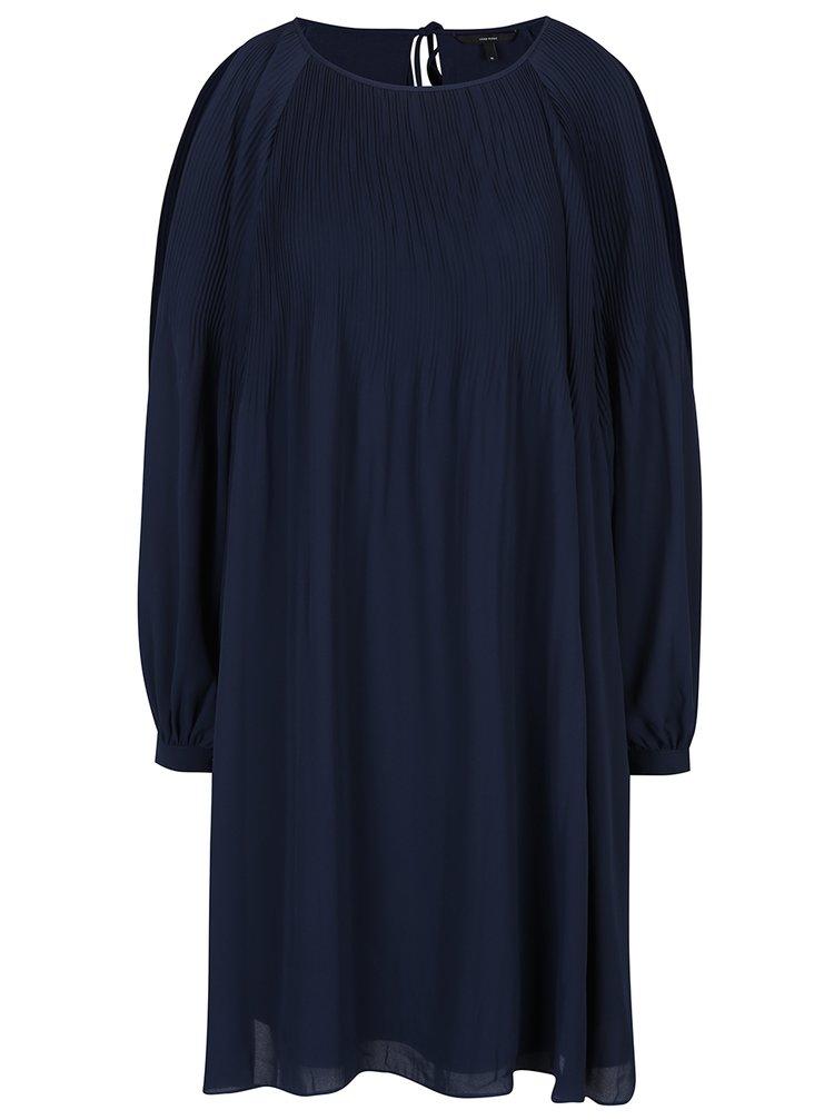 Rochie bleumarin cu pliseuri - VERO MODA View