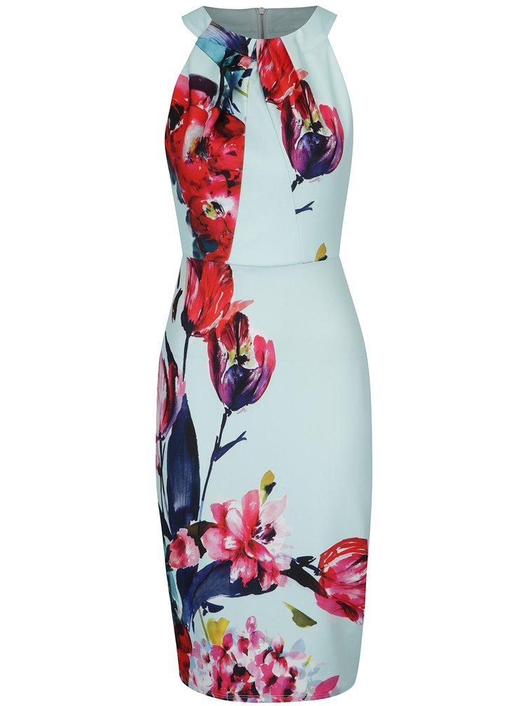 Mentolové květované šaty Dorothy Perkins