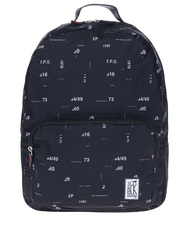 Černý batoh s čísly The Pack Society 18 l