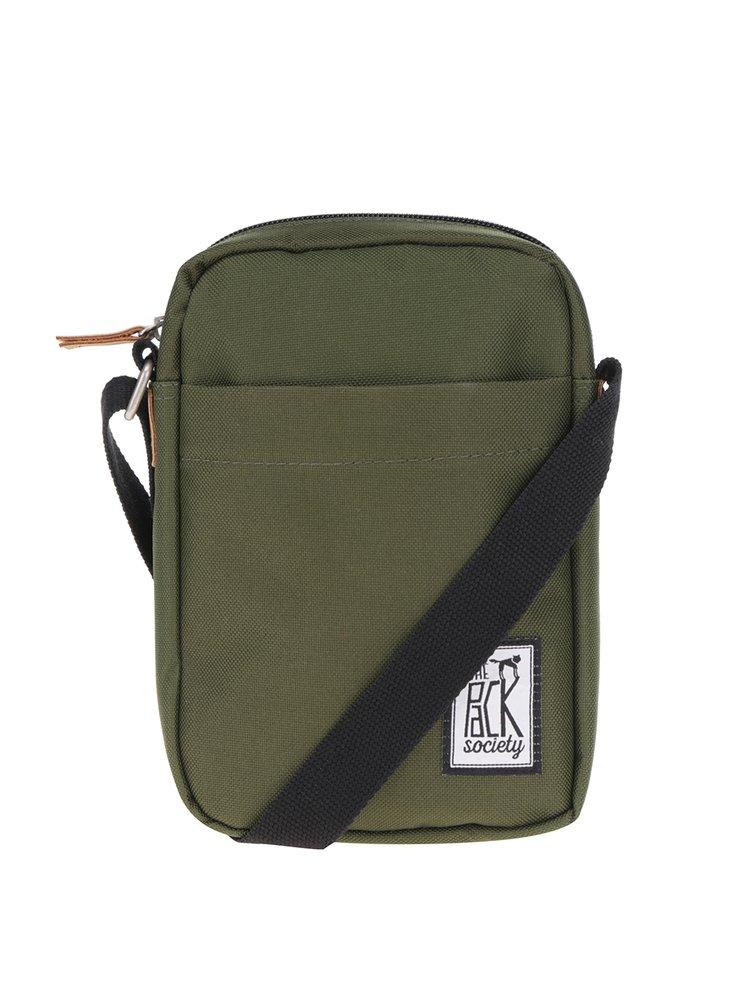 Khaki crossbody taška The Pack Society