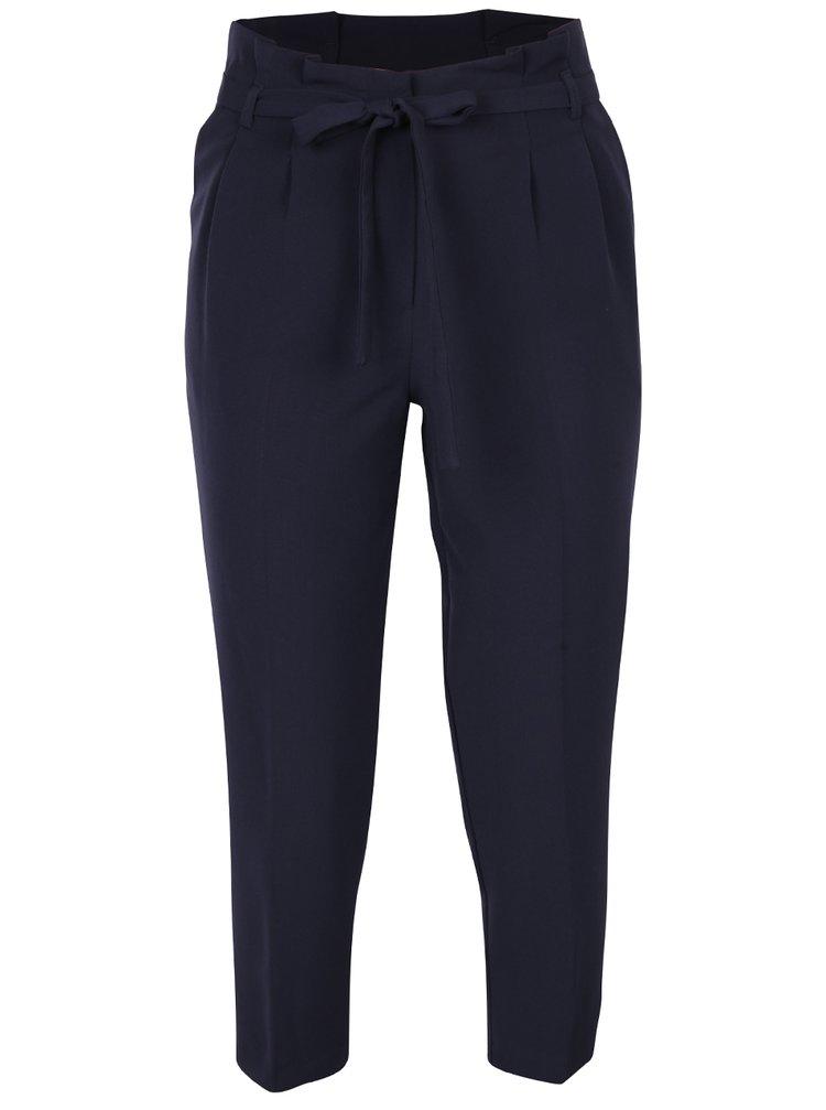 Tmavě modré volné kalhoty Miss Selfridge Petites