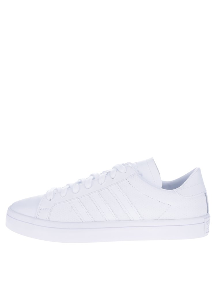 Bílé pánské kožené tenisky adidas Originals Courtvantage