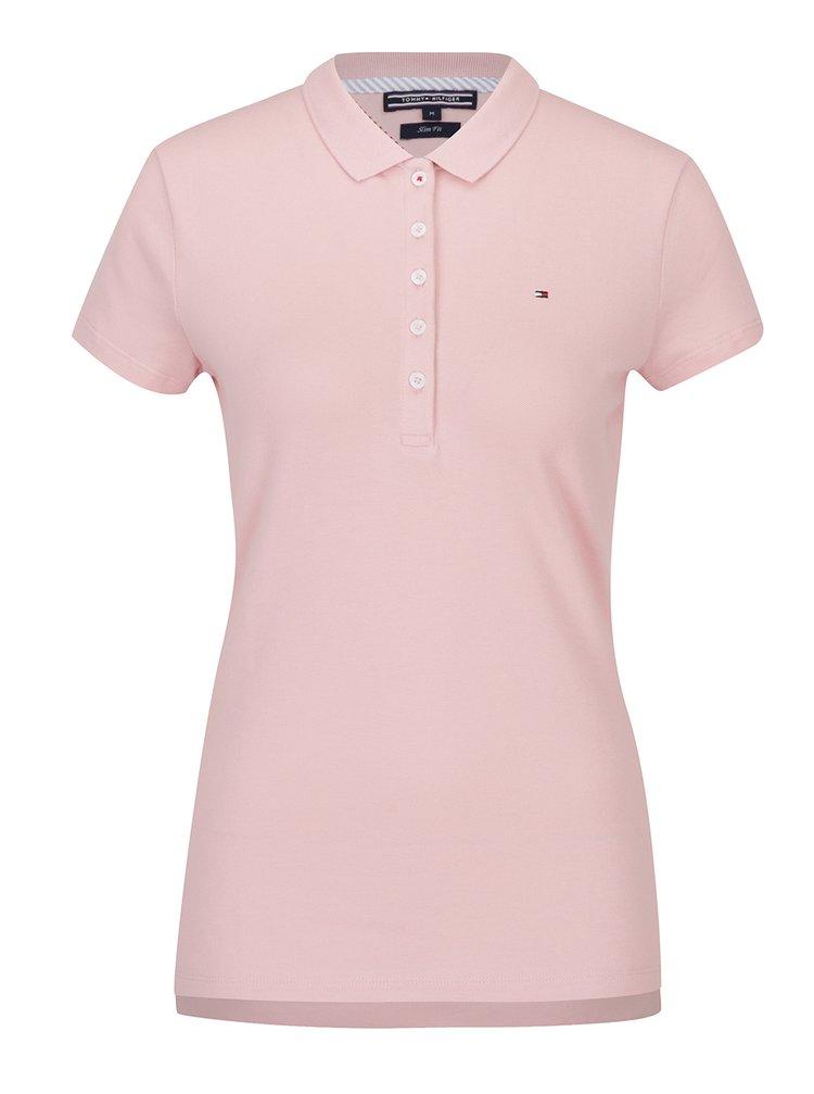 Růžové dámské polo tričko Tommy Hilfiger New Chiara