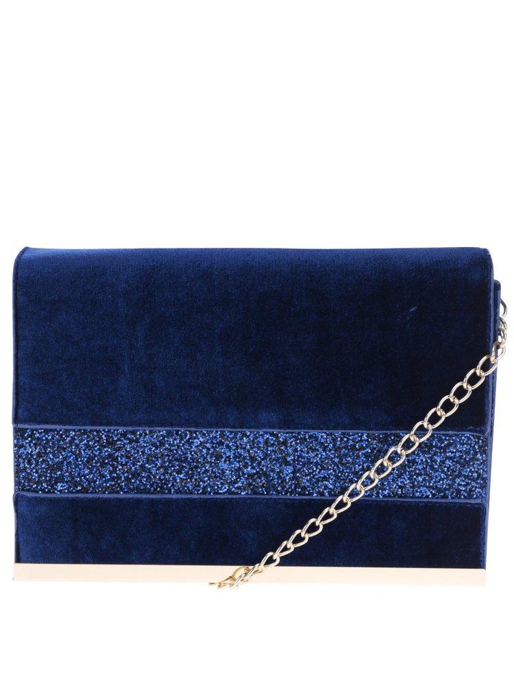 Modré sametové psaníčko s třpytivými detaily Dorothy Perkins