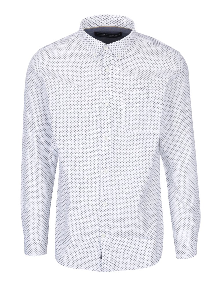 Bílá vzorovaná košile Jack & Jones Premium Classic