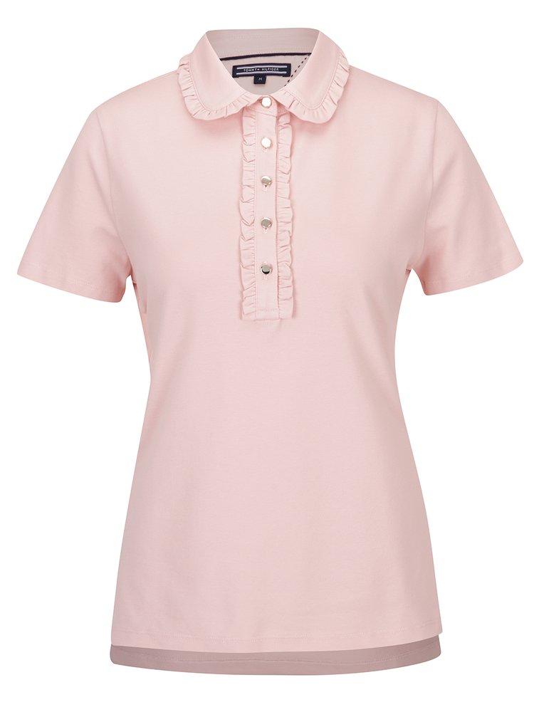 Růžové polo tričko Tommy Hilfiger New Destiny