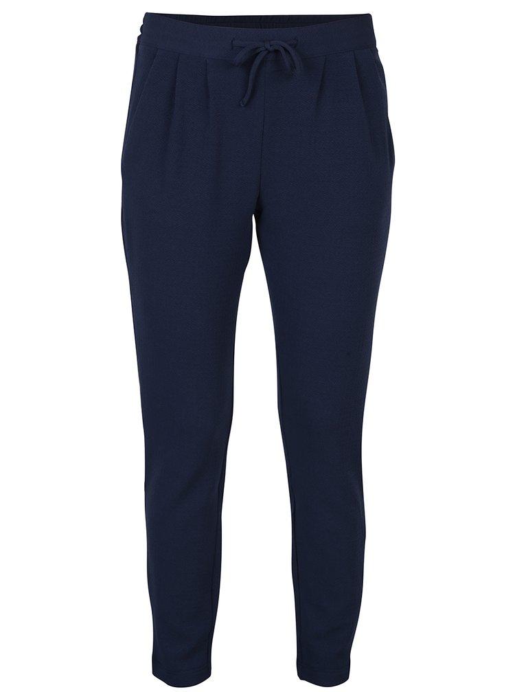 Tmavě modré zkrácené kalhoty Jacqueline de Yong Jazzle