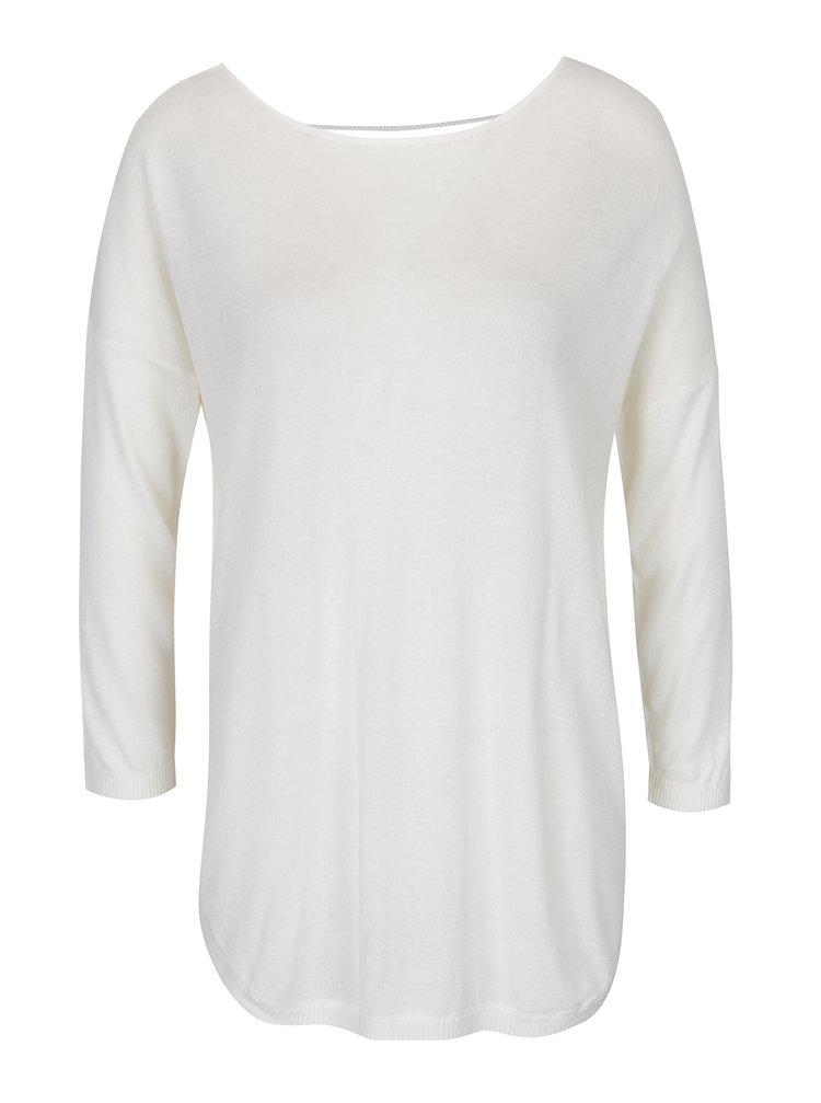 Bluză crem oversized cu șireturi încrucișate - ONLY Sky