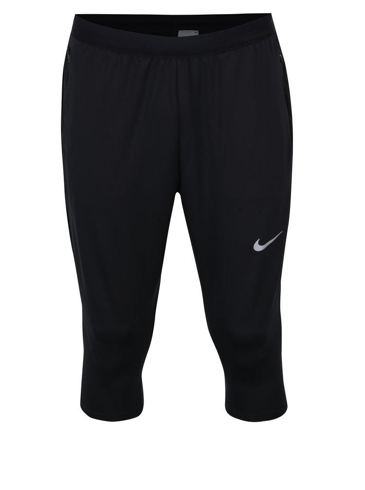 Černé pánské funkční 3/4 kalhoty Nike Dry