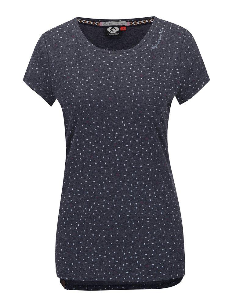 Šedé dámské vzorované tričko Ragwear Mint Hearts
