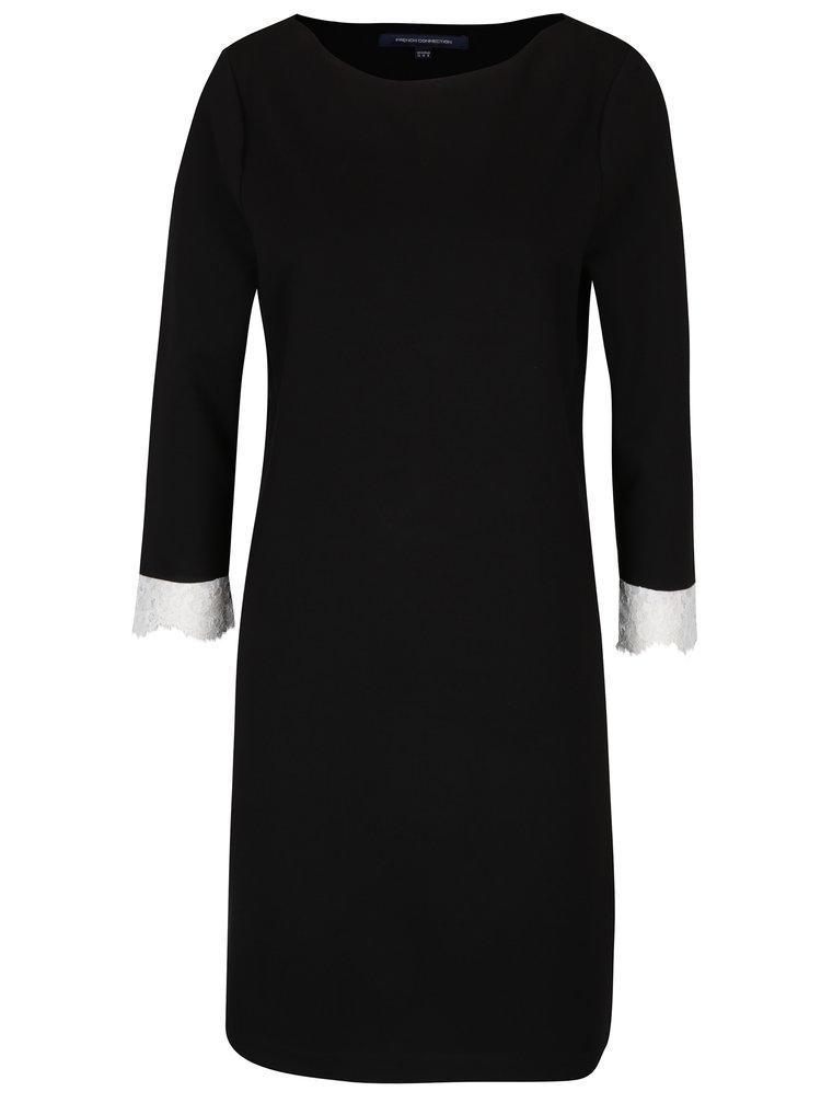 Černé šaty s krajkou French Connection Lula