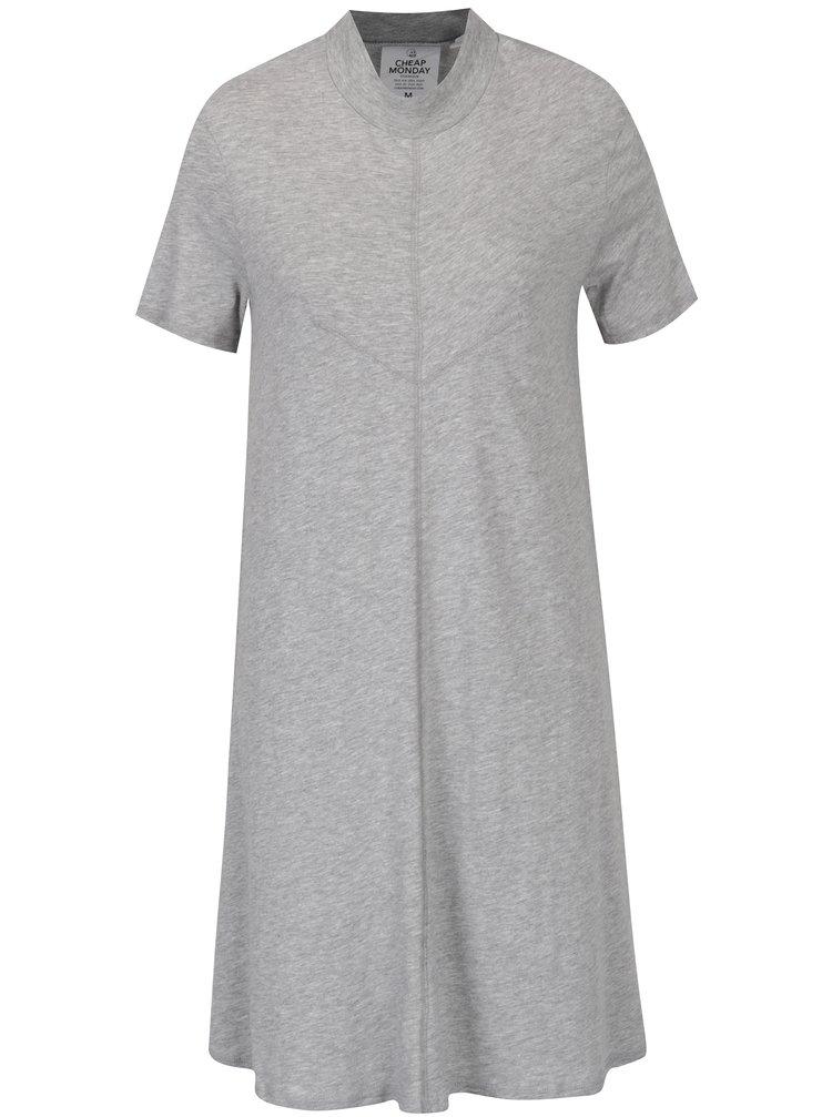 Šedé volné šaty s krátkým rukávem Cheap Monday Jagged