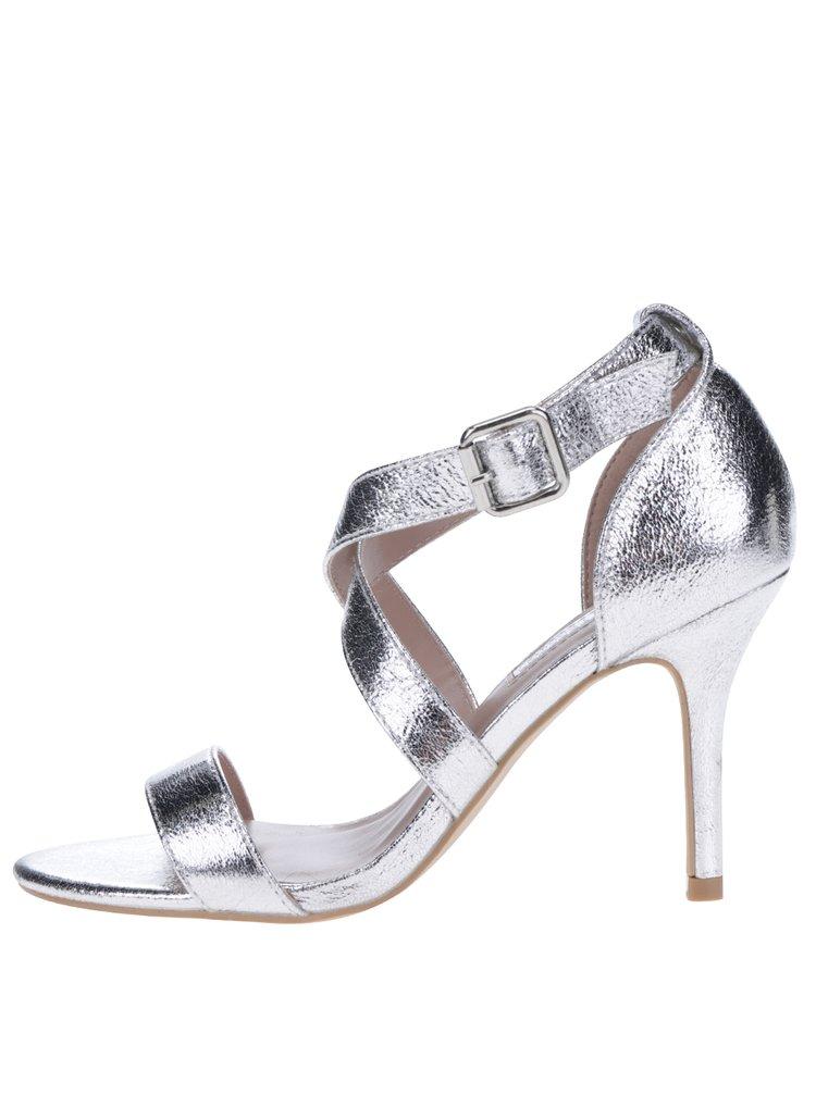 Sandale argintii cu barete - Dorothy Perkins