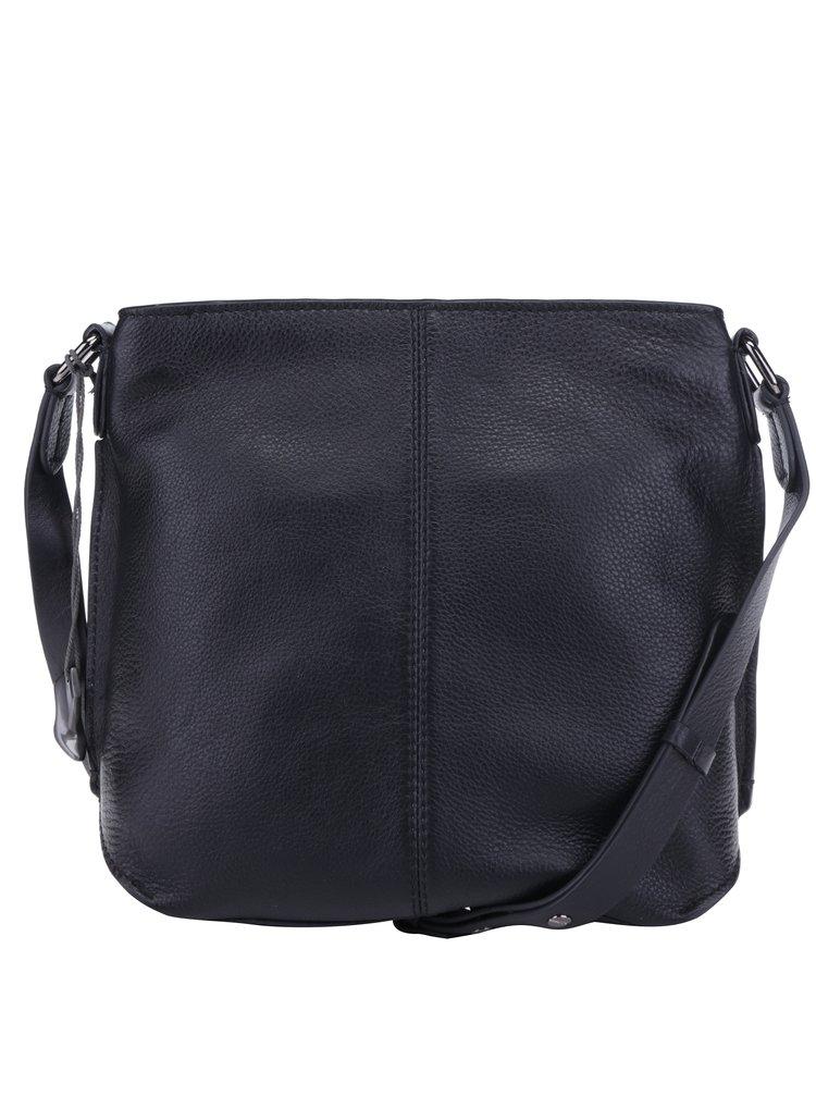 Černá kožená crossbody kabelka Clarks Topsham Jewel
