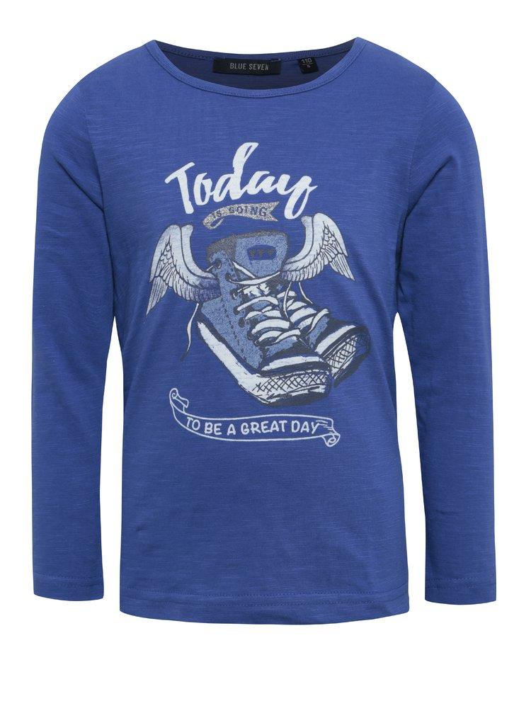 Tmavě modré dětské tričko s potiskem Blue Seven