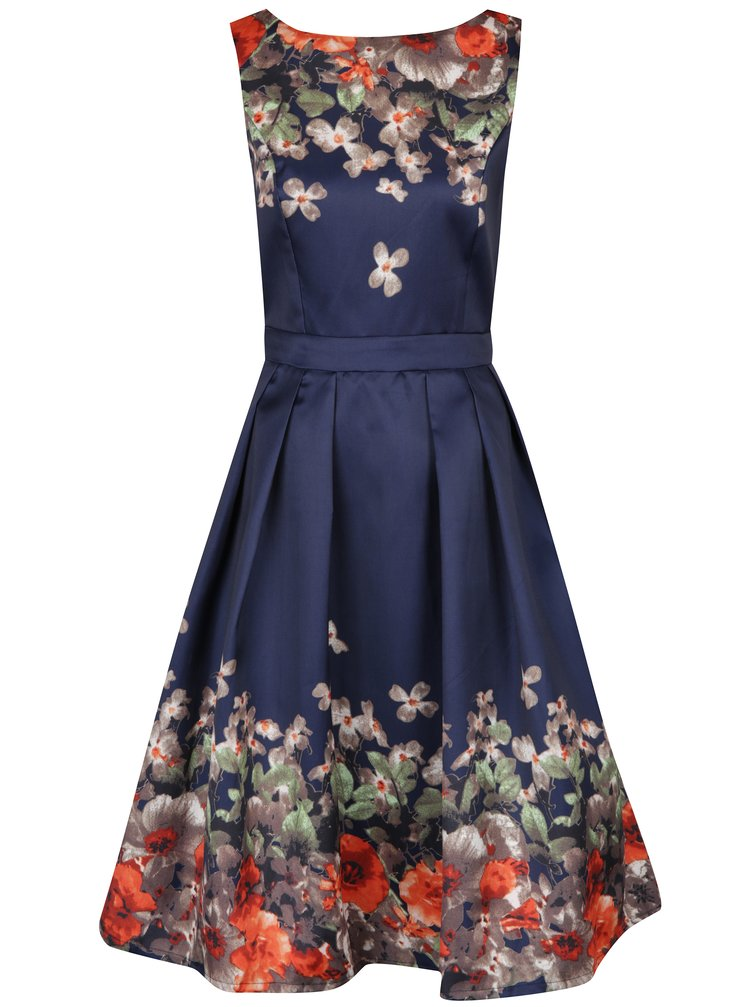 Rochie midi bleumarin cu imprimeu floral - Mela London