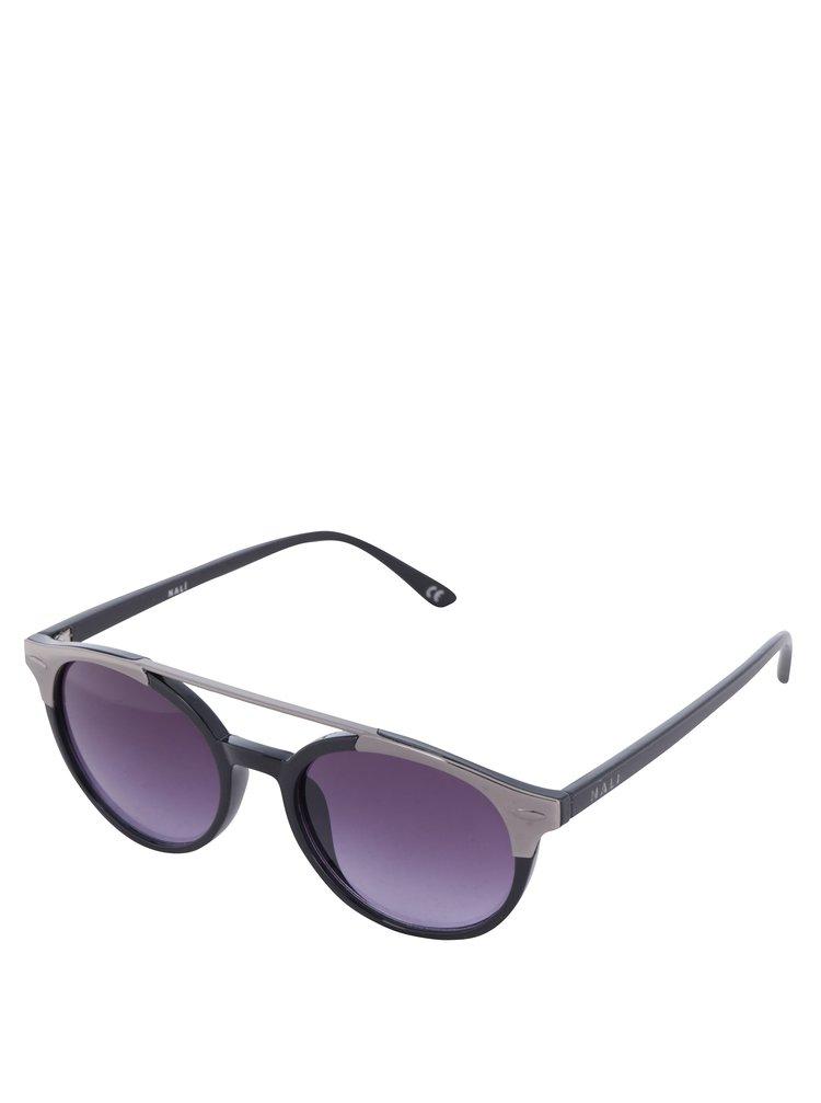 Ochelari de soare pentru femei cu detalii argintii - Nali