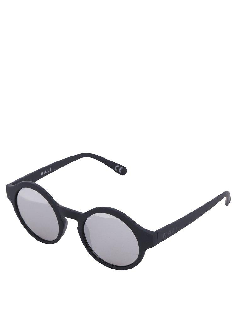 Černé dámské sluneční brýle se zrcadlovými skly Nalí