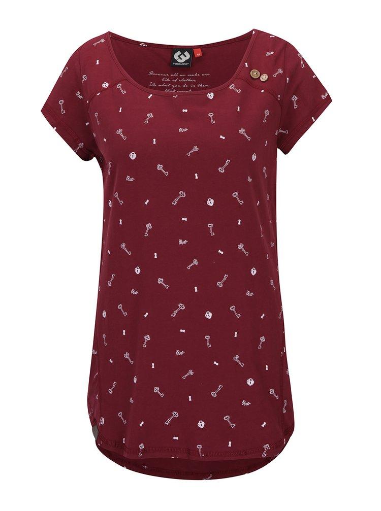 Vínové tričko s krátkým rukávem Ragwear Rosanna