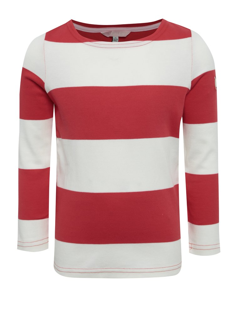 Krémovo-červené dětské pruhované tričko Tom Joule Harbour