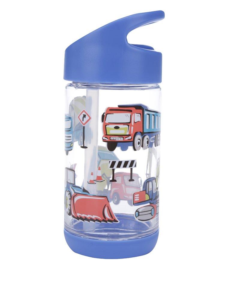 Modrá dětská láhev s motivem aut Cath Kidston