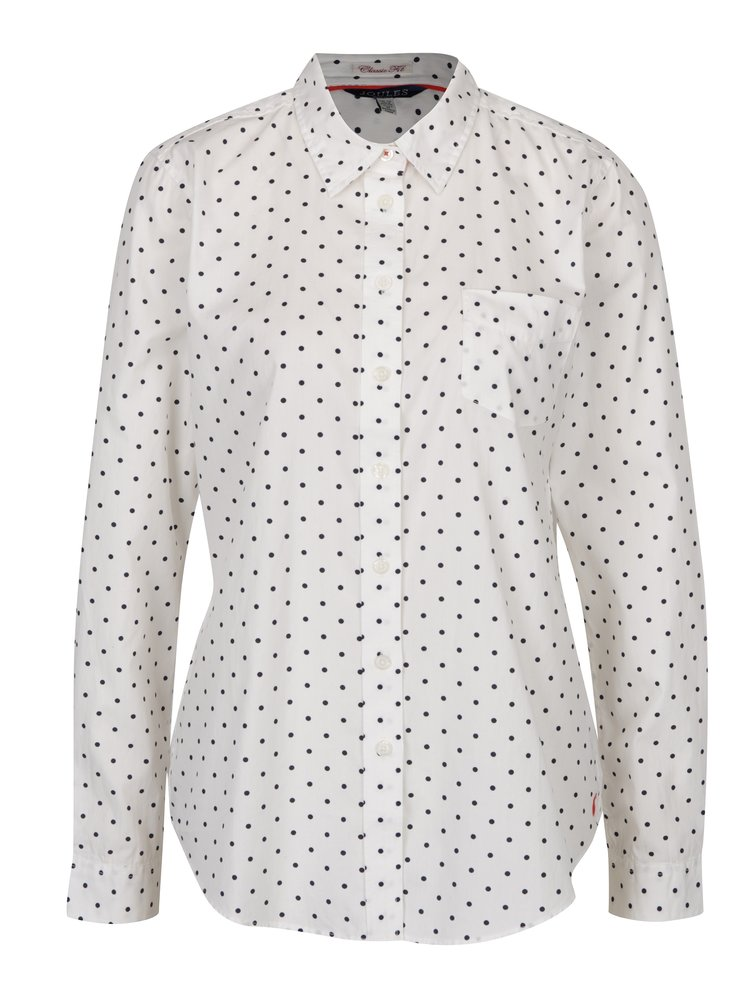 Krémová dámská puntíkovaná košile Tom Joule Lucie