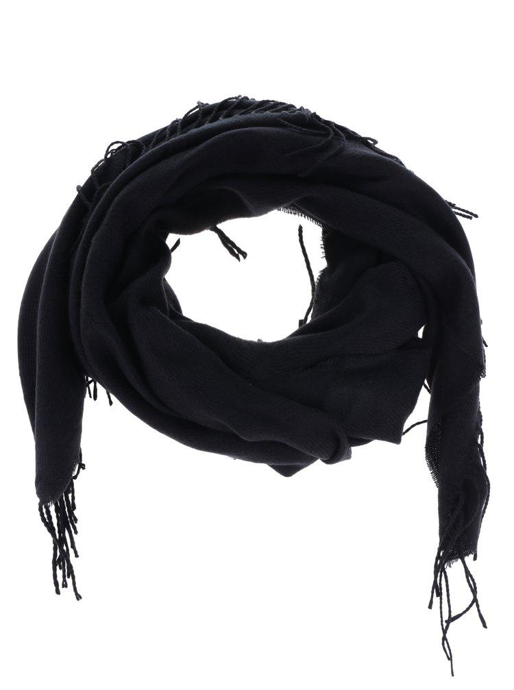 Eșarfă tricotată neagră VERO MODA Solid