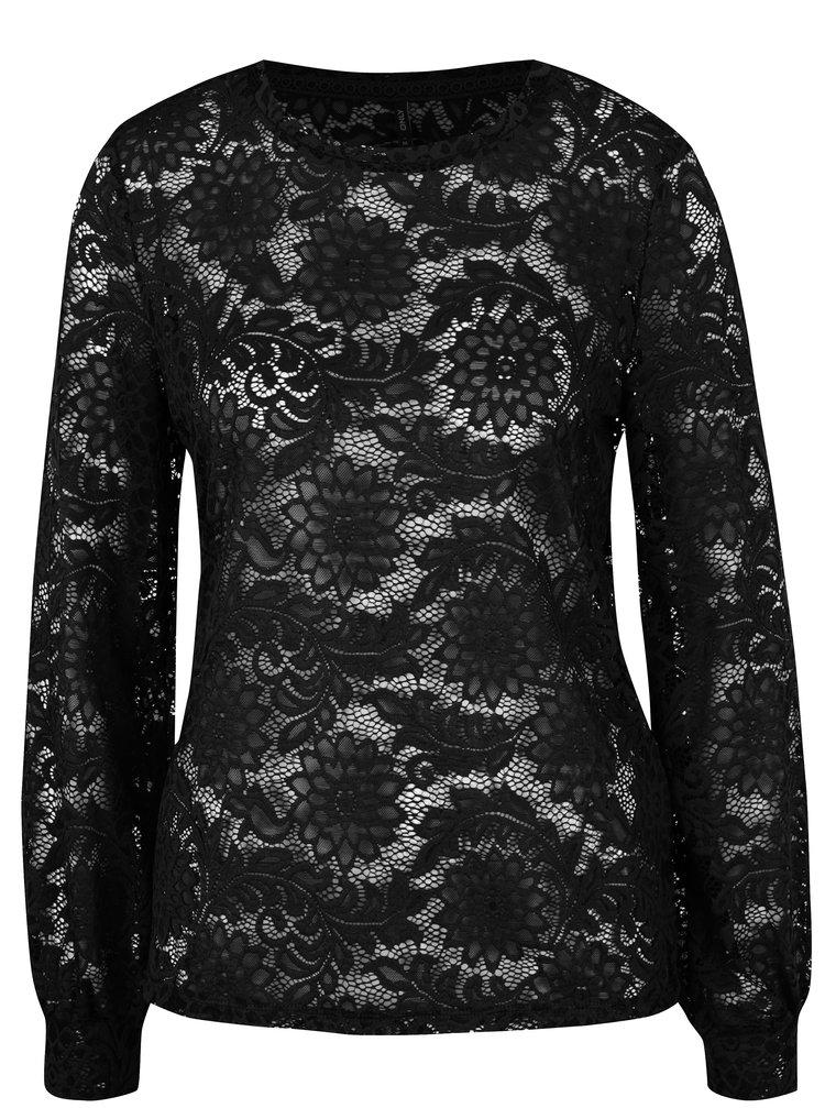 Bluza neagra din dantela - ONLY Laura