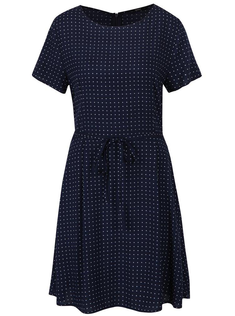 Tmavě modré šaty s jemným vzorem ONLY Nova